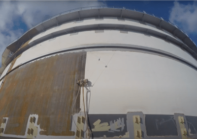 VertiDrive M4 on Oil storage tank UHP paint stripping