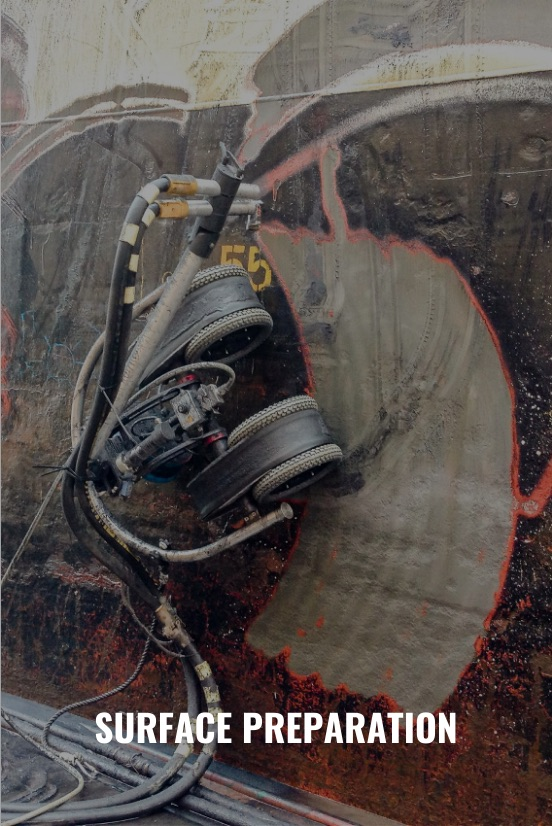 steel surface preparation M3 abrasive blasting robot